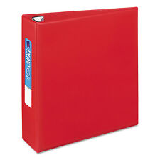 "Avery Heavy-Duty Binder with One Touch EZD Rings 11 x 8 1/2 3"" Capacity Red"