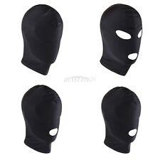 Spandex Nero Cappuccio con la sospensione attività con gli occhi bendati, GRATIS UK Consegna ho-120-black