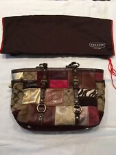 344a85aae7 Authentic Coach Holiday Patchwork Handbag