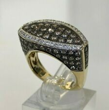14ct solid gold & 2.0CT of Brilliant Cut Diamond ring 11.50g size P 1/2 -  7 3/4