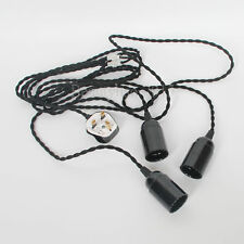 5m B22 BC Triple Socket Lamp Holder For Studio Shed Barn Attic Basement UK Plug