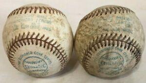 (2) Vintage Spalding Official American League Baseballs - Lee MacPhail Model