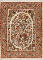 Breathtaking Floral IVORY Bidjar Oriental Area Rug Hand-Knotted Wool Carpet 5x7
