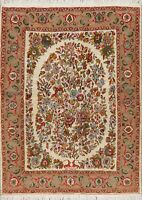 Breathtaking Floral IVORY Bidjar Oriental Area Rug Hand-Knotted Wool Carpet 5x7