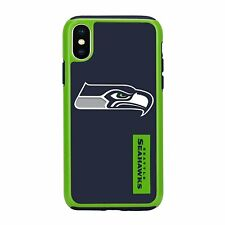 For Apple iPhone X Seattle Seahawks Dual Hybrid 2 Piece Protective Case NFL