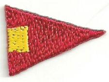 International Maritime Nautical Signal Flag 4th Repeater Sub Embroidery Patch