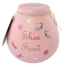 Piggy Bank Ceramic Dream Shoes Fund Money Pot Savings Jar