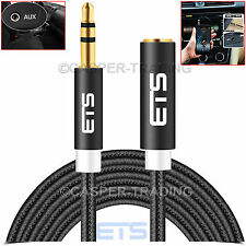 ® ETS 2M 3.5mm Jack Macho a Hembra Cable De Audio Aux Extensión Ipad MP3 speakerlead