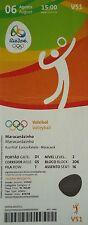 TICKET 6.8.2016 Olympia Volleyball Women's Brasilien - Kamerun # V51