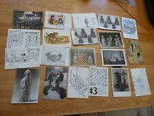20 Postkarten mit Schachmotiven bunt gemischt