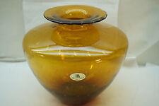 MURANO ART GLASS VASE MAESTRI VETRAI ORIGINAL LABEL BULLICANTE 9in TALL ITALIAN