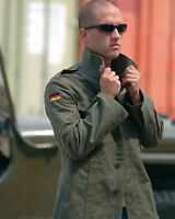 Original BW German Army Moleskin Shirt - Mens Military Olive Jacket Grade 1