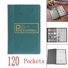 120 Pockets Coins Album Collection Book Commemorative Coin Holders Blue #9