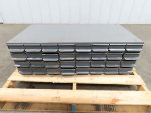 "Equipto Vintage Aurora 32 Drawer Industrial Steel Metal Cabinet 34"" x17"" x10.5"""