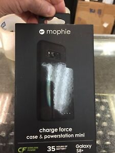 NEW NIB *MOPHIE* Charge Force Case + Powerstation Mini Galaxy S8+ 35 Hr Battery