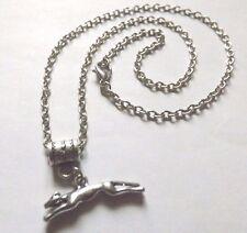 collier 46,5 cm avec pendentif chien lévrier