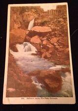 Vintage 1908 Full Color Rainbow Falls Ute Pass Colorado Postcard Postmarked
