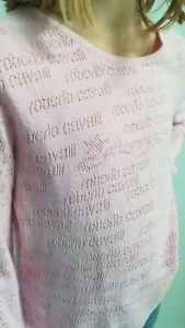 T.shirt fille occasion Roberto Cavalli rose Taille 10 -12 ans