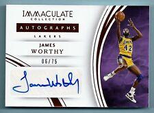 JAMES WORTHY 2015/16 PANINI IMMACULATE SIGNATURE AUTOGRAPH AUTO /75