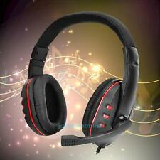 3.5mm Jack Wired PC Gaming Headset Headphones Surround Sound Microphone for PS4