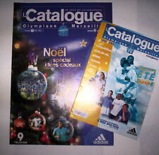 LOT CATALOGUES 3 + 4 2003-2004 / OM MARSEILLE