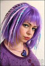 Purple and turquoise dread wig - long synthetic dreadlock wig - Made to order