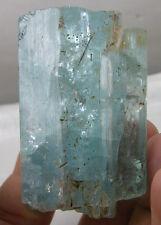 131g Cambodia 100% Natural Raw Rough Aquamarine Crystal Stick Specimen 4 5/8 oz
