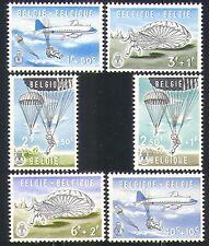 Belgium 1960 Planes/Parachutes/Transport 6v set n32070
