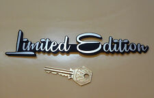 "LIMITED EDITION Script Style Self Adhesive Car Bike BADGE 7.5"" Custom Hot Rod"