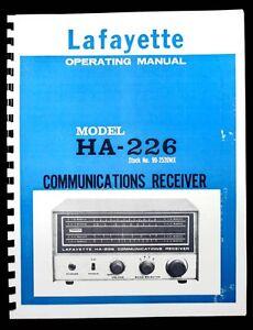 Lafayette HA226 HA-226 Communications Receiver Operating Manual