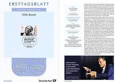 BRD 2013: Willy Brandt! Ersttagsblatt Nr. 3037! Bonner Ersttagsstempel! 1A! 1602