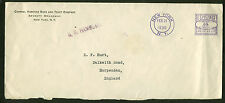 1936 Maritime Meter Mail New York to Harpenden, England -- S.S. Hamburg