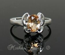 CUTE APRICOT BUTTERFLY CZ STERLING SILVER PLATED LADIES GIRLS RING SIZE 7 - (K)