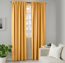 """NEW MAJGULL Blackout curtains, 1 pair, yellow, 57x98 """""""