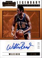 2017-18 Panini Contenders Legendary Autograph Gold Willis Reed AUTO 9/10