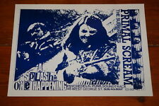 PRIMAL SCREAM SUBMARINES ORIGINAL SPLASH CONCERT POSTER GLASGOW 4 MAY 1985