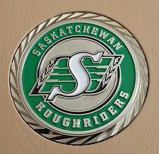 """CFL SASKATCHEWAN ROUGHRIDERS 1-3/4"""" CHALLENGE COIN"""