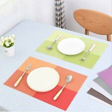Waterproof Dining Table Mat Heat-insulated Tableware Pad Bowl Pad Coasters PVC v