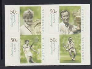Australia 2003 AUSSIE LEGENDS Tennis joined B4 P&S from the Booklet MNH SPORT