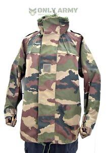 French Army Waterproof Jacket Goretex Hooded Parka Military Woodland Camo NATO