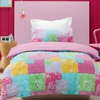 Jiggle & Giggle Kids Girls Bella Padded Doona|Quilt cover Set Double & Queen ...