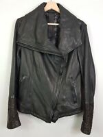 [ EMPRESA ] Womens Leather Jacket RRP$1900 | Size AU 10 - 12 or US 6 - 8 / IT 46