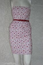 JEAN PAUL GAULTIER FOR TARGET STRAPLESS DRESS MULTI COLOR BELTED COTTON SIZE 1