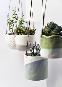 Burgon & Ball Hand Crafted Indoor House Plant, Herb Hanging Pots - New Designs