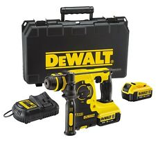 DeWalt 18V XR Lithium-Ion SDS Plus Rotary Hammer Drill includes 2 x 4Ah Batte...
