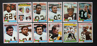 1981 Topps New Orleans Saints Team Set of 12 Football Cards