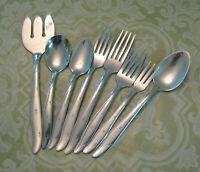 Lot of 8 Mar-Crest Citation Starburst Flatware Spoons Forks