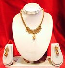 Bollywood Indian Bridal Necklace Earrings Jewellery Set Antique Gold Tone P5