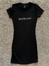 Forever 21 Black Minimalist Mini Dress size small