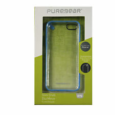 New OEM PureGear Slim Shell Case For Iphone 5c Authentic Cover Blue / Clear